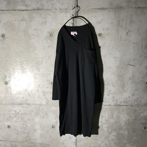 [used] mode long shirt dress