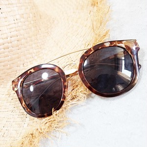 Round Mirror Sunglasses/Beige