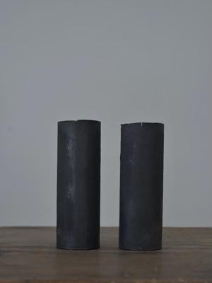 大山求 黒錆筒状花器