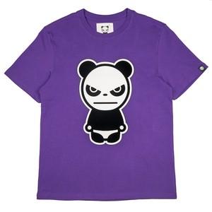 【HIPANDA 】メンズ Tシャツ【NEW】MEN'S  FLOCKY PRINT SHORT SLEEVED T-SHIRT / PURPLE