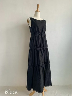 Bilitis dix-sept ans   Linen Tiered Long Dress