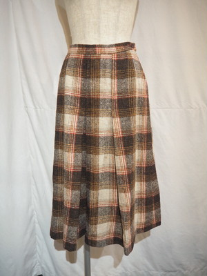 Multiple Color Check Pleated Skirt [O-266]