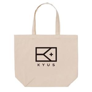 FLAG KYUS  ロゴ スタンダード キャンパス トートバック 【カラー:ナチュラル】(サイズ4種類)