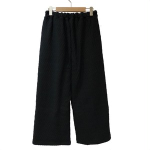Lilou&Lily : ZIG ZAG LINKS WIDE PANTS   Color : Black