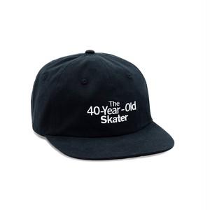 QUARTERSNACKS / 40-YEAR-OLD CAP -BLACK-
