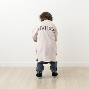 ✳︎数量限定再発売✳︎【KIDS】カレッジロゴアシンメトリーロングTシャツ