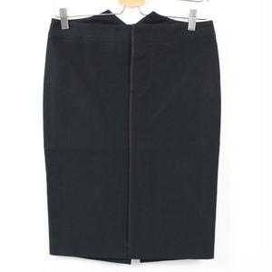 GUCCI / グッチ | ベルテッドパイピングスカート | 38 | ブラック