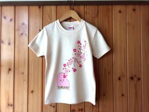 【受注制作】楽しい音楽♪光る手描きTシャツ【フラワーピアノ】100~150