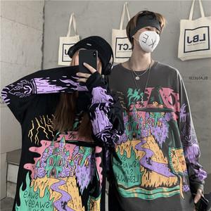 【トップス】長袖プリントストリートファッションTシャツ34226649