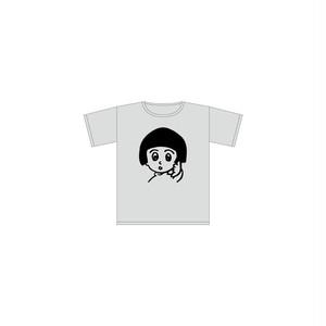 """""""わたしちゃん。"""" KIDS Tシャツ (杢グレー)"""