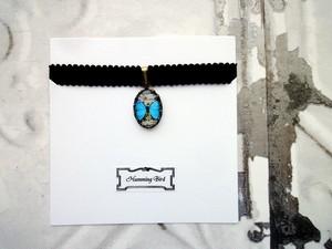 【受注生産】昆虫標本デザイン■ペンダント■青い蝶々
