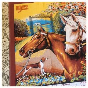 ヴィンテージリネン ファブリックカレンダー 1982年