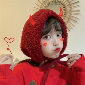 【ファッション小物】秋冬スエード生地スエードストラップ帽子