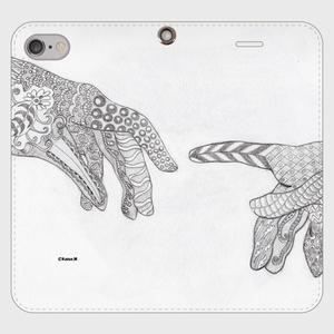 手帳型(帯なし)(iPhone7/8):kazue.M_013「手」