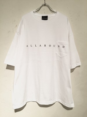 "19,FRONT LOGO WIDE SILHOUETTE S/S POCKET Tee ""WHITE"""
