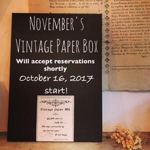 【11月中旬ごろお届け】予約販売/オリジナルBOX入りヴィンテージペーパーBOX