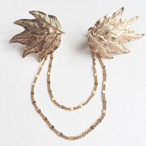 gold leaf sweater clip[s-205]