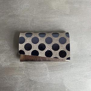 -Dot- Leather Card Case【carmine】