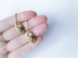 ハートロックピアス pierced earrings heart lock <PE4-0120>