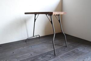 鉄脚の折り畳みテーブル ワークデスク コーヒーテーブル 机 古家具 古道具