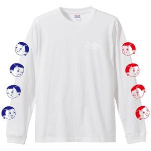"""""""喜怒哀楽""""  L/S T-shirt  [WHITE/BLUE/RED]"""