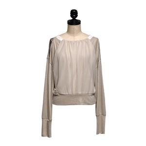 koll / shoulder hooded top / Ivory