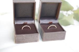 sparkle texture ring 10KYG