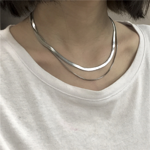 Double chain necklace LD0718