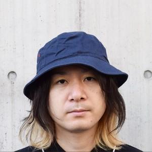 バケットハット(レコードワッペン) ネイビー 熊本地震チャリティー商品 夏物 F ユニセックス WATERFALL コラボ商品
