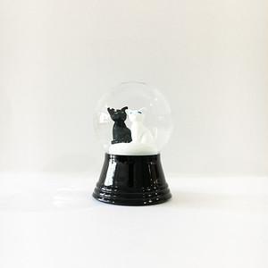 黒猫と白猫 スノードーム PERZY社 S
