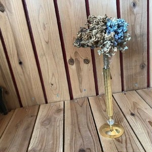 ≫ヴィンテージ古い真鍮とガラスの一輪挿し*おしゃれなフラワーベース花瓶花器インテリア*ビンテージアンティーク*ヨーロピアンロココ調*姫