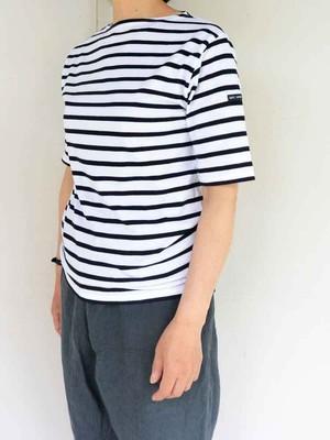SAINT JAMES(セントジェームス) PIRIAC 半袖Tシャツ NEIGE/NOIR