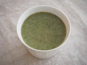 <春のお惣菜>野草とご飯のポタージュスープ
