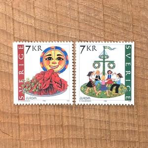 切手(未使用)「1998年版 EUROPE切手 - 2種セット(1998)」