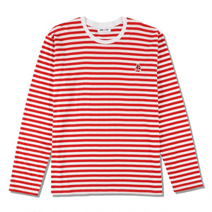 WDS(sail-boat) BORDER L/S T-SHIRT (WDS-20A-CS-03) WIND AND SEA RED