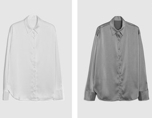 Basic satin shirt