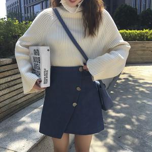【送料無料】】台形 ラップ スカート 全3色