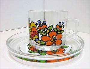 佐々木硝子 レトロなカップ&ソーサー【たびだち】(0729207S60)
