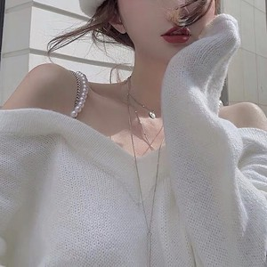 pearl chain shoulder knit