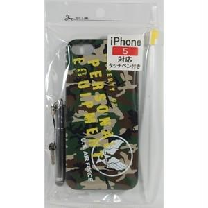 USAF iphone5ケース タッチペンST付 (ウッドランド)