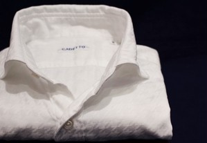 CADETTO ORIGINALS SHIRTS Dobby Hounds-tooth White