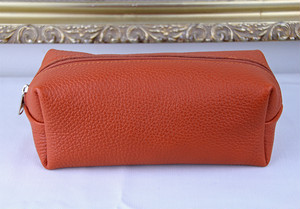 Cellerini by Tie Your Tie Leather Pouch -Orange チェリーニ レザーポーチ