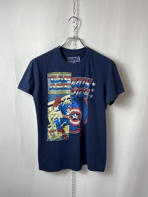 """【USED】 Character T-shirt """"CAPTAIN AMERICA"""""""