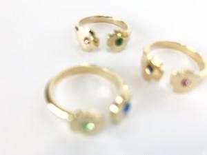 Coquelicot 2way ring [カラー オーダー]