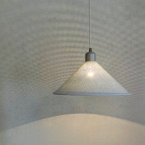 Punching Metal Shade Pendant Lamp / WHT&GRY 80's オランダ