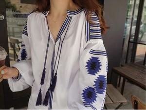 【一部即納再入荷】大人気アジアンシャツ M*ホワイト・グレー・レッド・ネイビー