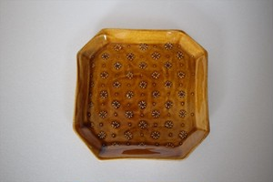 豊田雅代|8角プレート 茶