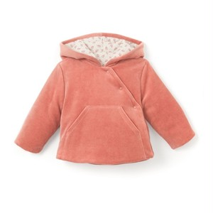 La Redoute R mini Velour Hooded Cardigan