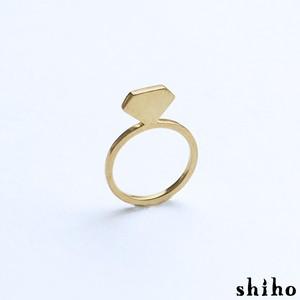 宝石のシルエットをかたどったリング【silhouette ring(gd)<石なし>】