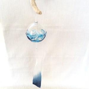 藍染風鈴【グラデーション、青色ガラス】